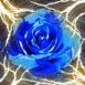 Rose bleue avec �clairs