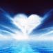 Océan et coeur nuageux