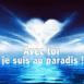 """Coeur nuageux """"Avec toi je suis au paradis!"""""""