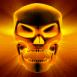 Crâne aux rayons X oranges