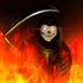 La faucheuse dans les flammes