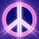 Peace & Love néon rose
