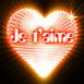 """Coeur néon """"Je t'aime"""" effet disco"""