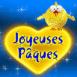 """Poussin sur un coeur """"Joyeuse Pâques"""""""