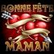 """Bonne f�te maman"" double coeur"
