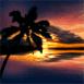Mer et coucher de soleil