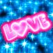 """Love"" multicolore clignotant!"
