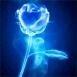 Rose bleue dans la brume