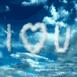 """""""I Love You"""" dans les nuages!"""