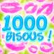"""Cascade multicolore de """"1000 bisous""""!"""
