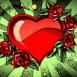 Coeur entour� de roses
