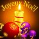 """Bougie et décoration """"Joyeux Noël"""""""