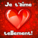 "Coeur glossy ""Je t'aime tellement!"""