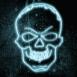 Dessin de crâne néon