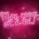 """Mon coeur est à toi!"" galaxie rose"