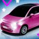 Fiat 500 rose bonbon