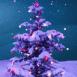 Sapin de Noël enneigé