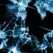 Glace brisée bleu profond