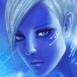 Ange bleu futuriste
