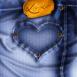 Coeur cousu sur un jean