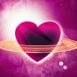 Coeur planétaire avec ses anneaux