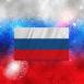 Drapeau Russie feux d'artifice