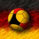 Logo Allemagne : Ballon de foot sur drapeau