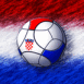 Croatie : Ballon de foot sur drapeau