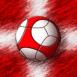 Danemark : Ballon de foot sur drapeau