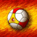 Espagne : Ballon de foot sur drapeau