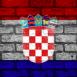 Mur aux couleurs de la Croatie