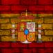 Mur aux couleurs de l'Espagne
