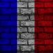 Mur aux couleurs de la France