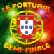 Logo Drapeau Portugal feux d'artifice demi-finale
