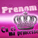 """Tu es ma princesse"" couronne rose"