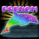 Dauphin multicolore scintillant