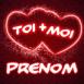 """Coeurs siamois rouges """"Toi+Moi"""""""