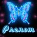 Papillon bleu s'illumine!