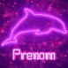 Dauphin néon violet