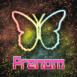 Papillon néon arc-en-ciel