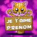"""Petit chat """"Je t'aime"""""""
