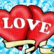 """Tatouage deux coeurs """"Love"""""""