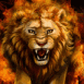 Lion enflammé