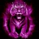 Tigre enflammé fluo