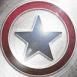 Logo Etoile bleue et rouge sur fond acier