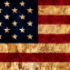 Logo Drapeau USA grunge