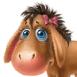 Bébé poney mignon