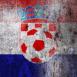 Croatie : Ballon de foot sur mur grunge