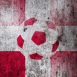 Danemark : Ballon de foot sur mur grunge