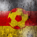 Logo Allemagne : Ballon de foot sur mur grunge